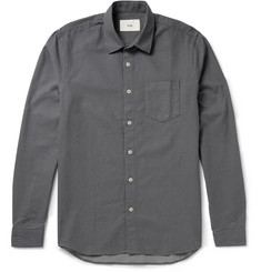 Folk Morey Slim-Fit Reverse-Stitched Cotton Shirt