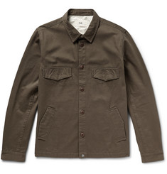 Folk Cotton-Twill Shirt Jacket