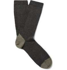 Folk Striped Stretch Cotton-Blend Socks