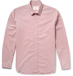 Folk Puppytooth Cotton-Poplin Shirt