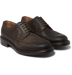 O'Keeffe Felix Waxed-Leather Brogues