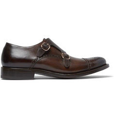 O'Keeffe Algy Leather Monk-Strap Shoes