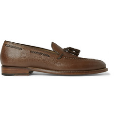 Grenson Scott Tasselled Grained-Leather Loafers