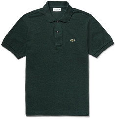 Lacoste Marled Cotton-Piqué Polo Shirt