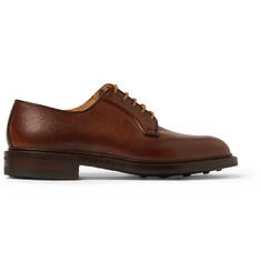 George Cleverley Pebble-Grain Leather Derby Shoes