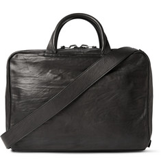 Álvaro Arturo Washed-Leather Briefcase