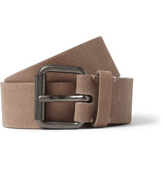Álvaro 3.5cm Light-Brown Leather Belt