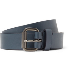 Álvaro 2.5cm Navy Leather Belt