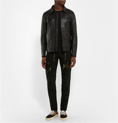 Blackmeans Leather Biker Jacket