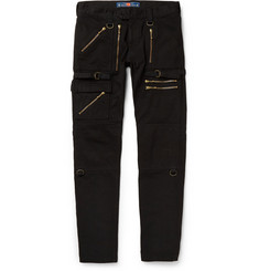 Blackmeans Zipped Cotton Cargo Trousers