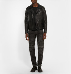 Blackmeans Quilted Leather Biker Jacket