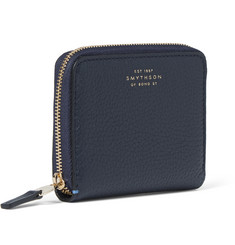 Smythson Grained-Leather Zipped Coin Wallet