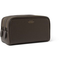 Smythson Textured-Leather Wash Bag