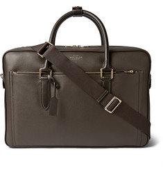 Smythson 24 Hour Grained-Leather Holdall