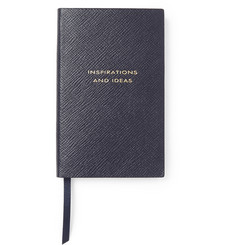 Smythson - Gold-Embossed Cross-Grain Leather Panama Notebook