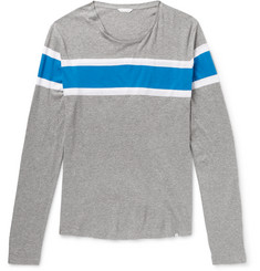 Orlebar Brown Perry Striped Mélange Pima Cotton-Jersey T-Shirt