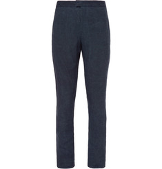 Burberry Prorsum Navy Slim-Fit Linen Suit Trousers