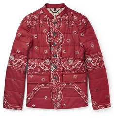 Burberry Prorsum Paisley-Print Padded Cotton Jacket