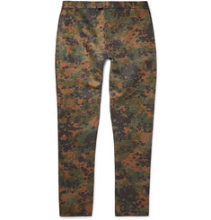 Burberry Prorsum Slim-Fit Camouflage-Print Linen and Silk-Blend Trousers