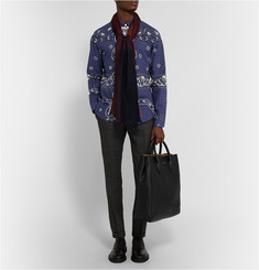 Burberry Prorsum Slim-Fit Paisley-Print Cotton Shirt