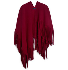 Burberry Prorsum Wool-Blend Poncho Scarf