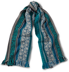 Burberry Shoes & Accessories Wool, Cotton and Cashmere-Blend Jacquard Scarf