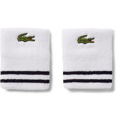 Lacoste Tennis - Striped Cotton-Blend Terry Wristbands