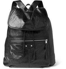 Balenciaga Creased-Leather Backpack