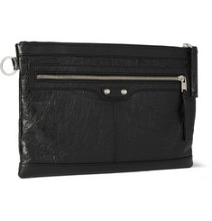 Balenciaga Medium Creased-Leather Pouch