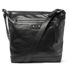 Balenciaga Creased-Leather Messenger Bag
