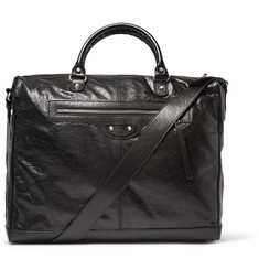 Balenciaga Creased-Leather Holdall