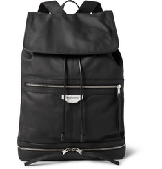 Balenciaga Marble Traveller Rubberised-Leather Backpack