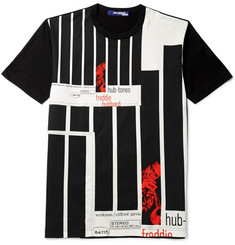 Junya Watanabe Blue Note Printed Cotton-Jersey T-Shirt