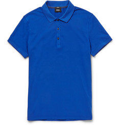 Hugo Boss Slim-Fit Stretch Cotton-Piqué Polo Shirt