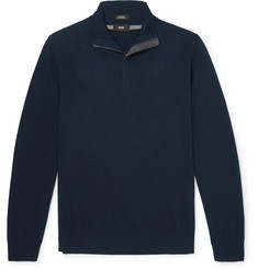 Hugo Boss Elbow Patch Cotton and Wool-Blend Sweater