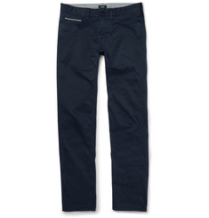 Hugo Boss Slim-Fit Stretch Cotton-Gabardine Trousers