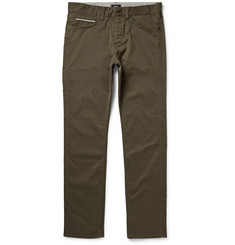 Hugo Boss Delaware Slim-Fit Stretch Cotton-Gabardine Trousers
