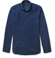 Hugo Boss Regular-Fit Cotton and Cashmere-Blend Shirt