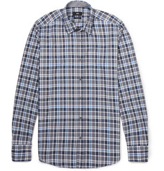 Hugo Boss Checked Cotton Oxford Shirt