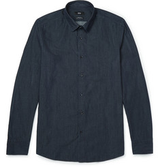 Hugo Boss Printed Cotton-Chambray Shirt