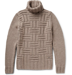 Hugo Boss Chunky-Knit Wool and Alpaca-Blend Rollneck Sweater