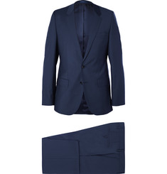 Hugo Boss Navy Slim-Fit Virgin Wool Suit