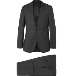 Hugo Boss Charcoal Slim-Fit Micro-Checked Wool Suit