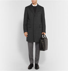 Hugo Boss Textured Wool and Cashmere-Blend Overcoat