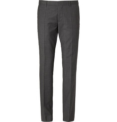 Hugo Boss Slim-Fit Prince of Wales Check Wool Trousers