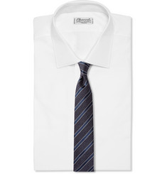 Hugo Boss Striped Silk and Wool-Blend Tie
