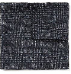 Hugo Boss Prince of Wales Check Printed Silk Pocket Square