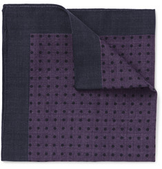 Hugo Boss Polka-Dot Wool Pocket Square
