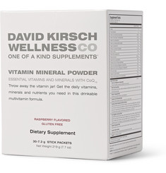 David Kirsch Wellness Co. Raspberry Vitamin Mineral Powder - 30 sachets