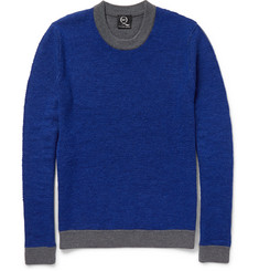 McQ Alexander McQueen Slim-Fit Dual-Tone Knitted Sweater